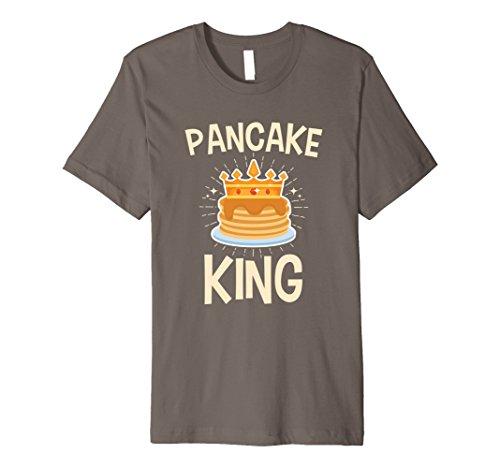 Mens Pancake King T Shirt Gifts Large Asphalt