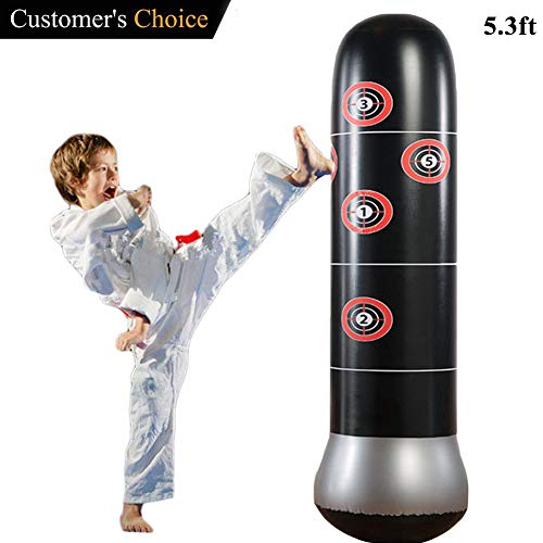 Eforoutdoor Punching Bag,Inflatable Punching Bag Free-Standing Fitness Punching Bag for Healthy Stress Relief Great Gift for Children