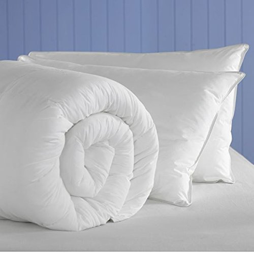 Anti-Allergy Soft Silky Like Down Microfibre Duvet Quilt With Pair of Pillows Bundle (All Sizes & Togs) By CosySleep® Double 10.5 + Pair of Pillows
