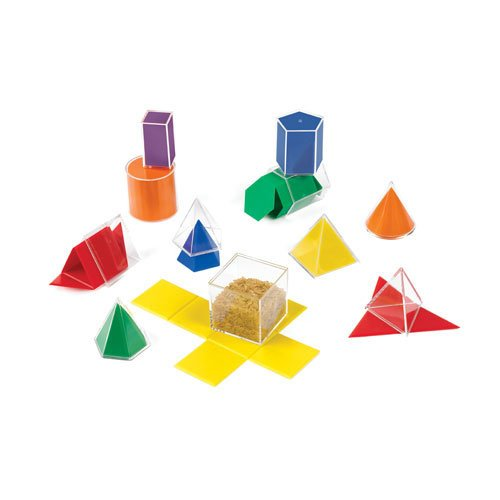 EAI Education GeoModel Folding Shapes: 5 cm - 11 Solids and 11 Nets