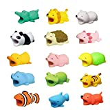 15 Pack Cable Bite Cute Cartoon Animal Bite Cable Protector...