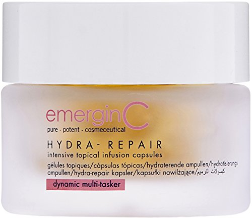 emerginC Hydra-Repair Intensive Topical Infusion Capsules - Ceramide Moisturizing Serum Caps for Dry Skin (40 Capsules)
