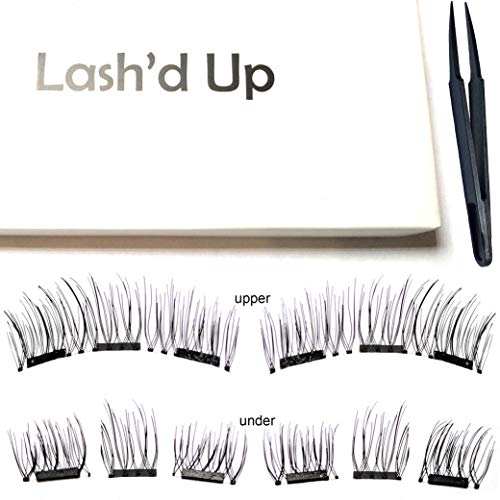 Lash'd Up Magnetic Eyelashes Full Eyes Natural Look Grade A+ Silk [No Glue] Child Cancer Partner 3 Magnets Reusable False Lashes | Just Natural