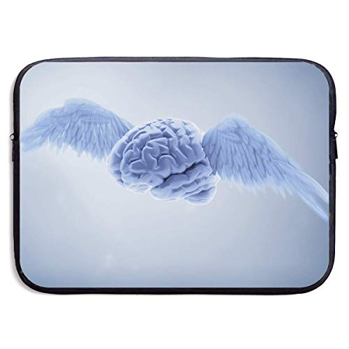 CHJOO Laptop Sleeve Bag Freedom Brain with Wings 13/15 Inch