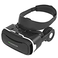 I-greenee Original VR casque virtuel de 4ème Original VR Shinecon 4.03d VR Lunettes de VR et micro et casque rétractable & Detachable usure de la tête pour 4.0~ 15,2cm smartphones pour 3d Films vidéo panoramique et Immersion totale dans Jeux