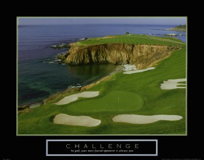 Challenge pebble beach golf course inspirational art print for Pebble beach collection