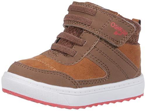 Brown Toddler Footwear (OshKosh B'Gosh Boys' Ekon Sneaker, Brown, 6 M US Toddler)