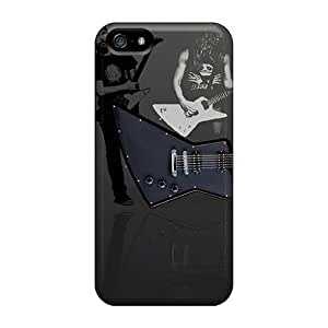 Excellent Hard Phone Cases For Iphone 5/5s (WpJ6204GGDR) Support Personal Customs High-definition Metallica Skin