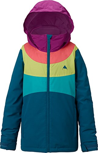 Burton Girls Youth Hart Snow Jacket Jaded/Grapeseed/Georgia Peach Size Medium by Burton