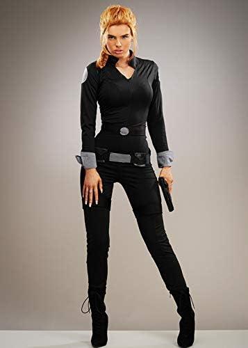 Magic Box Disfraz de espía Estilo Viuda Negra para Mujer Small (UK ...