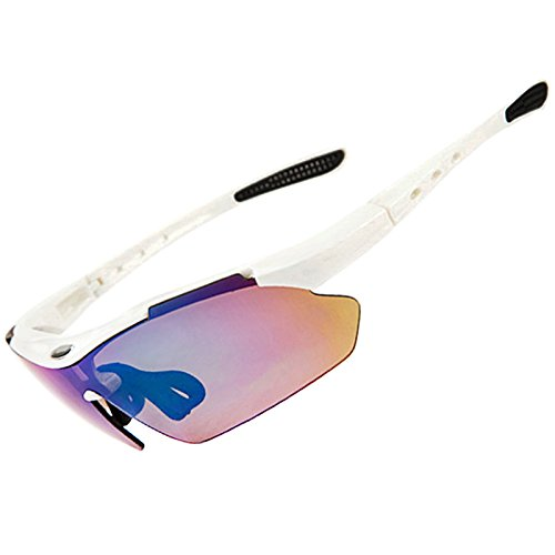 SPOSUNE Sports Sunglasses UV400 Protection Cycling Glasses Lightweight Frame Anti Glare for Adults and Teen' Golf Tennis Baseball -