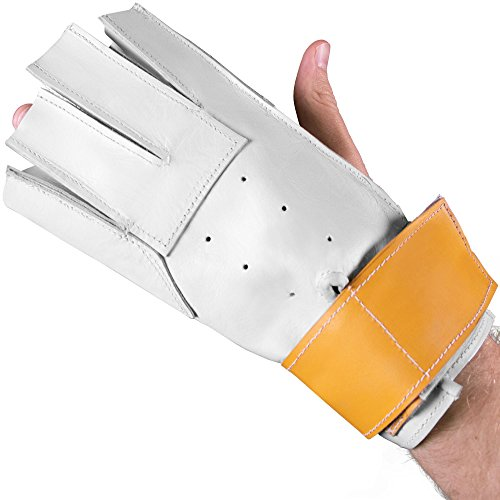 Crown Sporting Goods Hammer Throw Glove, Left Hand Fit for Right Handed Throwers - Track & Field Equipment for Practices, Training, Competitions (Large) ()