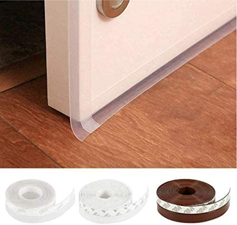 Self Adhesive Door Seal Strip Weather Stripping Silicone Bottom Door Seal Soundproof Doors and Windows Weather Stripping Translucence 16 Feet 1-3//4 inch 45MM Translucence