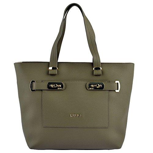 Liu Jo Shopper Orizzontale Shopping Bag Donna Borsa Verde Kaki