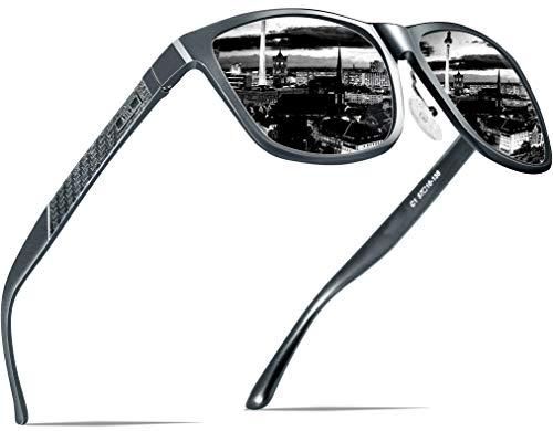 ATTCL Men's Retro Metal Frame Driving Polarized Sunglasses For Men 18587gray