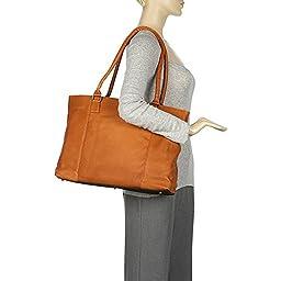 Le Donne Leather Women\'s Laptop/Handbag Brief - Tan