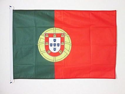 AZ FLAG Bandera de Portugal 90x60cm Uso Exterior - Bandera Portuguesa 60 x 90 cm Anillos: Amazon.es: Hogar