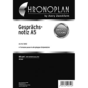 Avery 50312 - Cuaderno (Adulto, 40 hojas, Negro, Blanco, Monótono, A5, 80 g/m²)