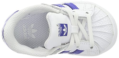 adidas Baby Jungen Superstar Sneaker Weiß (Footwear White/Bold Blue/Bold Blue)