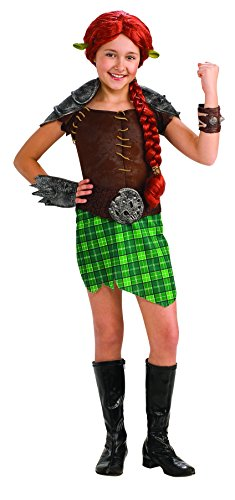 [Shrek Child's Deluxe Costume, Princess Fiona Warrior Costume] (Warrior Fiona Costumes)