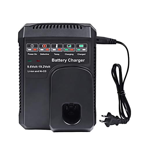 Flylinktech Battery Charger for Craftsman 9.6V-19.2V Ni-Cad & Lithium C3 DieHard XCP 140152004 1425301 1323903 130279005 11375 11376 315.PP201