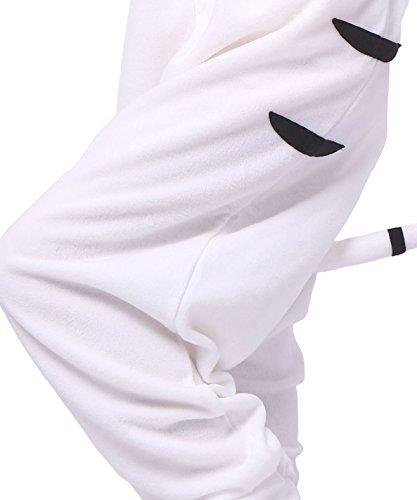 Animal Blanc Adulte Pyjama Onesies Unisexe Kigurumi Tigre Wg0qtAH