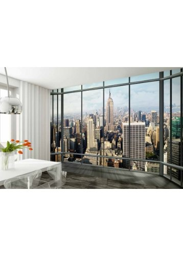 Cheap  1Wall New York Skyline Window Wall Mural