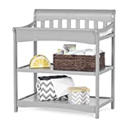 Child Craft Coventry Infant Changing Table with Pad, Cool Gray