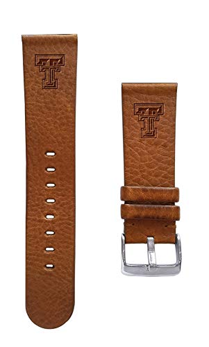 (Affinity Bands Texas Tech University Red Raiders 22mm Premium Leather Watch Band - Compatible with Samsung, Garmin, Fossil Fitbit and More.)