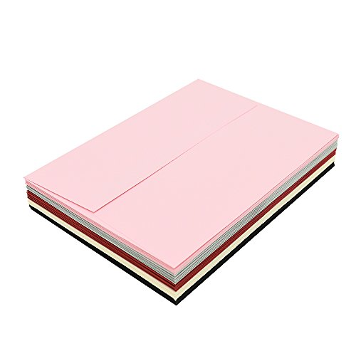 A7 Pink Invitation 5x7 Envelopes - Self Seal, Square Flap,Perfect for Baby Shower, 5x7 Cards, Weddings, Birthday, Invitations, Graduation, 5.25 x 7.25 inches, 100 Pack, (Pink) Photo #6