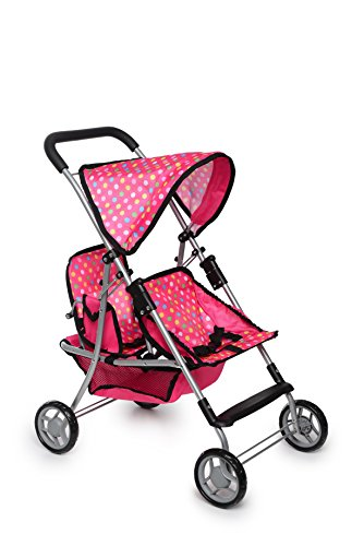 Dolls Twin Prams Pushchairs - 2