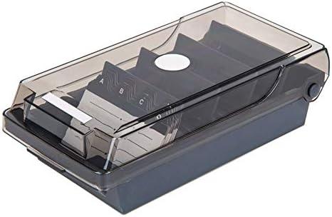 1 PC-Fachmann-Halter-Visitenkarte-Kasten-Visitenkarte Datei Visitenkarte Speicher Business Index Card Organizer Bürobedarf