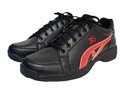900 Global Sneaks Unisex Bowling Shoes, Black/Red, Men's 13.