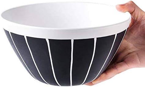 AHAI YU ボウル設定のクリエイティブセラミック食器をサービング大型ディープフルーツサラダスープボウル穀物デザートボウルパスタプレートレトロなミキシング (Size : WHITEBOWL)