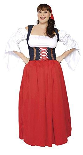 Oktoberfest 4pc Plus Size Women's Bavarian Munich Barmaid
