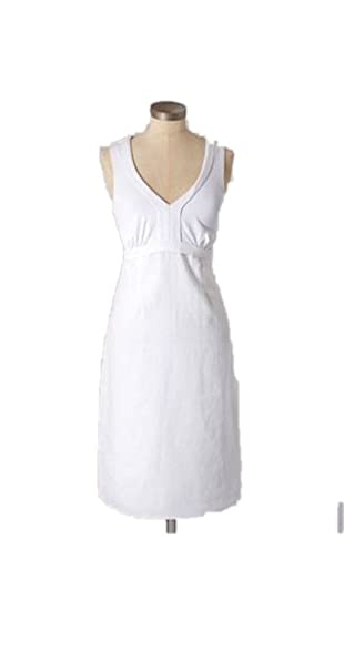 276508a3ae Image Unavailable. Image not available for. Color  BODEN White Linen Jersey  Dress ...