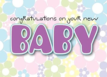New Baby Newborn Girl Greeting Birthday Card