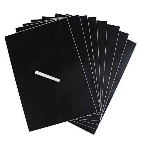 rimovibile Set di 8/lavagne A4 nere con 1/Gesso adesivo da parete adesivi impermeabile