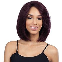 """Haircloset's Freetress Equal Deep Invisible """"L"""" Part Lace Front Wig HANIA (1B)"""