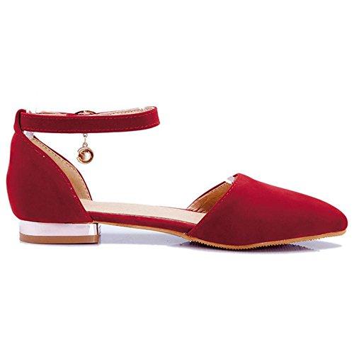 COOLCEPT Damen Bequeme Flach Sommer Schuhe Red