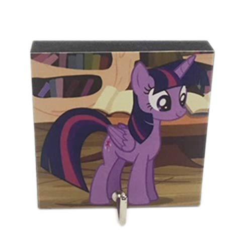 Agility Bathroom Wall Hanger Hat Bag Key Adhesive Wood Hook Vintage Twilight Sparkle - My Little Pony's Photo