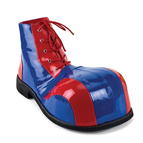 Funtasma by Pleaser Men's Halloween Clown-05,Red/Blue,one S (US Men's 8-9 M) IZE