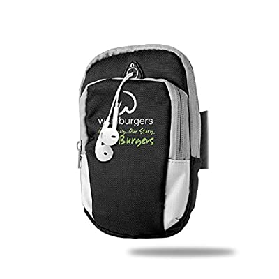 CGHFW Wahlburgers Outdoor Sports Multifunctional Pockets Arm Bag Zipper Bag Gym Running Sport Workout Armband For Running Trekking Hiking Cycling Mounting Strolling Armband