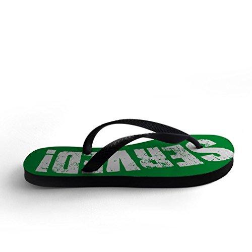 Tennis Flip Flops You Just Got Served Green yptkq