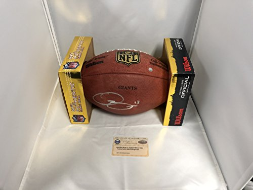 Odell Beckham Jr Autographed Signed New York Giants Official NFL Duke Leather Football TEAM ISSUED GIANTS Stamp With Steiner Sports COA & Hologram
