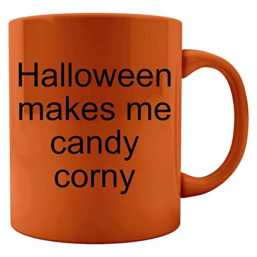 - Halloween makes me candy corny - Colored Mug
