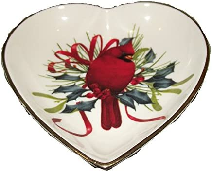 Lenox American By Design Winter Greetings Heart Candy Dish