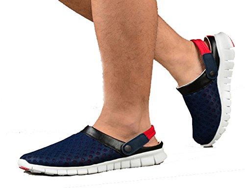 Hombres Mujeres Antideslizantes Malla Transpirable Net Zapatillas Sandalias De Playa Deporte Zapatos Informales Zapatillas De Verano Gris