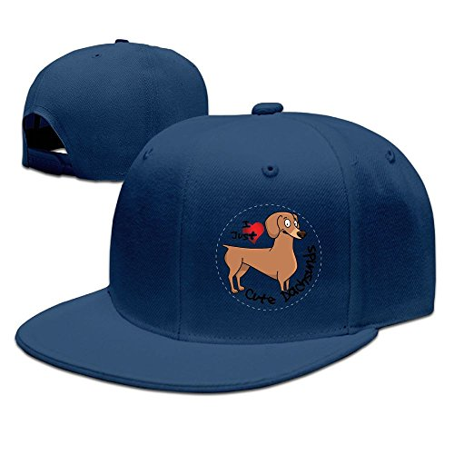 - CaCaJessica Mens I Love My Happy Adorable Funny & Cute Dachsund Dog Funny Golf Navy Cap Adjustable Snapback
