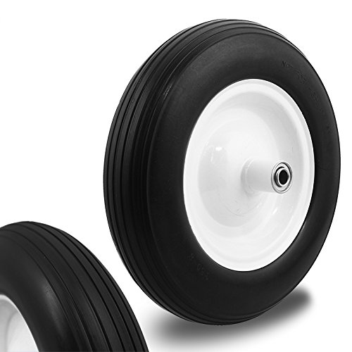 XtremepowerUS-15-Flat-free-Tubeless-Wheelbarrow-Cart-Wagon-Non-Flat-Ribbed-Tire-58-Bore